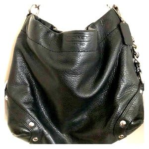 Small hobo leather purse
